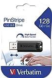 Verbatim PinStripe USB-Stick - 128 GB - High-Speed 3.0-Schnittstelle, externer Speicherstick mit...
