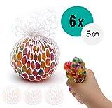 L+H 6X Anti-Stress-Ball Quetschball Regenbogen   hochwertig verarbeitet   für Kinder und Erwachsene...