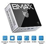 BMAX B2 Plus Mini PC,Windows 10 Intel J4115 Prozessor (bis 2,5 GHz), 8GB LPDDR4/128GB SSD, USB-C,...