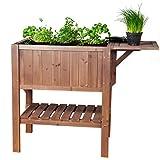 Hochbeet mit Tisch Cube 1 - Gemüsebeet Kräuterbeet - Beet für Balkon & Terrasse