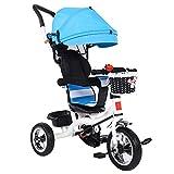 Cocoarm Dreirad für Kinder Kinder Fahrrad mit Verstellbarem Schubstange Klappbar Sonnendach...
