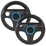 2 Stück Spiele Lenkrad Kompatibel mit Mario Kart Wii,Beinhome Racing Wheel Lenkrad Fernbedienung...