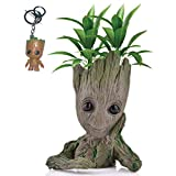 Kyhon Baby Groot Blumentopf Figur - bertopf Gro Aquarium Deko Figur Holz Aschenbecher Stiftehalter -...
