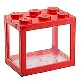 Liadance Mini Cube Aquarium, Schreibtisch Acryl Tank für Goldfische und andere kleine Fische, Ideal...