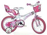 Minnie Maus Kinderfahrrad Mädchenfahrrad – 14 Zoll | Original Disney Lizenz | Kinderrad mit...