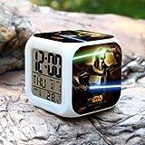 Uhren Digitaluhr Farbwechsel Elektronisches Tischdisplay Despertador Blau