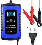 LVYE1 MRMF Batterie Ladegerät Auto, 6A 12V Batterie Ladegerät Batterieladegerät mit LCD...