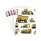 YXUAOQ Frauen-Spielkarten-Gabelstapler-Kran-Bagger-Traktor-Planierraupen-LKW-zufällige Spielkarten...