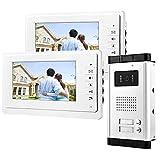 uoweky 7 '' Video-Türsprechanlage mit Gegensprechanlage RFID-Zugang Eingang Kamera Türklingel 2...
