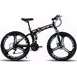 QZMJJ Off-Road Radfahren, Mountainfahrraddoppelscheibenbremsen Sport und Freizeit City Road Bike 24...