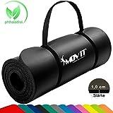 Movit Pilates Gymnastikmatte, Yogamatte, phthalatfrei, SGS geprüft, 183 x 60 x 1,0cm, Yoga Matte in...