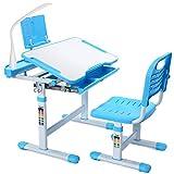 Forfar Studienschalter für Kinder und Stuhlset mit LED-Licht mit EU-Stecker Kinder-Schultisch...
