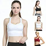 [Yoga-Hose für Frauen]-Sexy Frauen Sport Bra Wireless Vest Atmungsaktiv Yoga Running Fitness Tank...