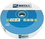 MyMedia CD-R 700 MB I 10er Pack Spindel I CD Rohlinge printable I 52-fache Brenngeschwindigkeit mit...