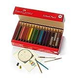 Faber-Castell World Colors Buntstifte Schulpaket - Traditionelle & Hautton Buntstifte - 300...