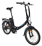 smartEC Camp-20D Klapprad E-Bike, 20 Zoll, Anfahrhilfe, 7 Gänge, Fahrunterstützung 25 km/h,...