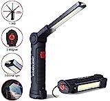TOKMALI LED Arbeitsleuchte, Werkstattlampe Portable Wiederaufladbare Taschenlampe COB...