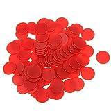 linjunddd 100 Opaque Plastic Brettspiel Zähler Zwinkert Tiddly Numeracy Lehre - Rot Orange...