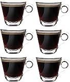 idea-station Espresso-Tassen 6 Stück, 8 cl (80 ml), Design B, dickwandig, Espressotassen, Espresso...