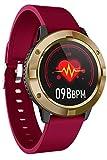 Smartwatch Uhr mit Blutdruckmessung Damen Herren Pulsuhr VollTouchscreen Schlaf Fitness Armband...