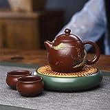 SHENTIANWEI Erz Teekanne Handgemachten Tee Teekanne Topf-Sets lila Drachenei Zhuni (Color : Purple...