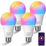 Alexa Glühbirnen E27 Smart LED-Lampe, 10W 1000LM AISIRER WLAN Mehrfarbige Dimmbare Birne App...