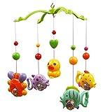 Toddmomy Baby Musik Krippe Musik Bett Glocke Spielzeug Fisch Krabben Und Ente Spielzeug Kinderwagen...