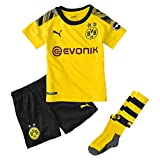 PUMA Kinder BVB Home Minikit Socks Evonik with OPEL Logo Trikot, Cyber Yellow Black, 110