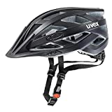 uvex Unisex Erwachsene, i-vo cc Fahrradhelm, black mat, 56-60 cm