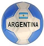 Fußball Argentinien mit silberfarbener Flagge Größe 5 Farbe Weiß / Hellblau