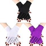 3 Paar UV Shield Handschuh Gel Maniküre Handschuh Anti UV Fingerlose Handschuhe Schützen die...