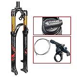 ZNND 26' Mountainbike Federgabel, 1-1/8' Leicht Magnesiumlegierung MTB Fahrrad Gasgabel Schulter...