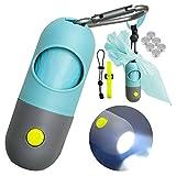 Infinite Node Beutelspender für Hundekotbeutel mit eingebauter LED-Taschenlampe und Leinenclip,...