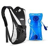 KUYOU Trinkrucksack mit 2L Trinkblase, Hydration Rucksack Ultralight Laufrucksack mit Trinksystem fr...