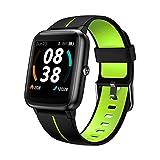 Smartwatch, KUNGIX Fitness Uhr GPS Tracker 5 ATM Wasserdicht Touch Screen Smart Watch mit Pulsuhren...