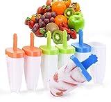 IKICH Eisform, Eisformen BPA Frei, 6 Eisförmchen wiederverwendbar, DIY Popsicle Formen Set, Eis am...