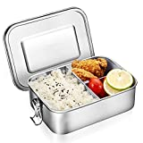 O-Kinee Lunch Box Stainless Steel Bento Box, Brotdose Lunchbox Edelstahl, Metal Dense Lunch Box...