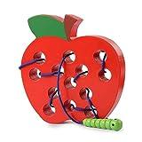 Sunshine smile Holz fädelspiel Apfel,einfädeln Spielzeug,Montessori Spielzeug...