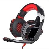 Unbekannt Gaming Headset, Bass Gaming Kopfhörer mit LED-Licht Noise Reduction Mic und...