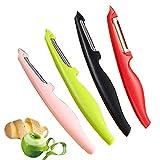 HKBTCH Sparschäler, Gemüseschäler, Obstschäler, Universalschäler mit Pendelklinge, Rechts-und...