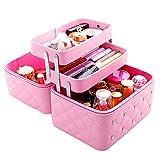Kosmetikkoffer Makeup Box Kosmetiktasche Schminkkoffer fr Reisen Dienstreise weich 3 verfgbare...