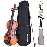 ammoon Violine Set 1/2 Geige, Matte Acoustic Violine Geige fr Anfnger mit Hartschalenkoffer,...