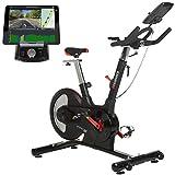 HAMMER Speed Racer S, Speedbike, Indoor Cycle, 22 kg Schwungmasse, LCD-Screen + APP-Steuerung für...