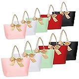 10pcs Geschenktüten - Geschenkbeutel aus Papier mit Bogen Band, Elegant papiertüten für...