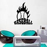 bingcheng Baseball Wandaufkleber Zitat Wanddekoration Sport Wanddekoration Jungen Schlafzimmer Dekor...
