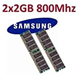 Dual Channel Kit SAMSUNG 2 x 2 GB = 4GB 240 pin DDR2-800 DIMM (800Mhz, PC2-6400) M378T5663QZ3-CF7...