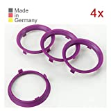 KONIKON 4X Zentrierringe 70,1 x 65,1 mm Violett Felgen Ringe Radnaben Zentrierring Adapterring Ring...