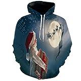 TAPESTRYDA Kapuzenpullover,Lustiger hässlicher Weihnachtspullover für Herren Hoodies 3D Print-XL