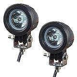 Motorrad Zusatzscheinwerfer LED, EKLAMP 2inch 10W Motorrad Nebelscheinwerfer LED, Scheinwerfer Auto,...