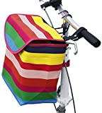 GZD Fahrrad-vorderes Leinwand Korb, Abnehmbarer Fahrrad Lenkerkorb, Kleintiere Katzentransportkorb...